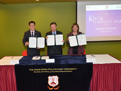 Launch of Kwok Hospitality Awards for Hospitality Study at the Cornell University - 1