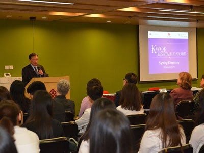 Launch of Kwok Hospitality Awards for Hospitality Study at the Cornell University - 6